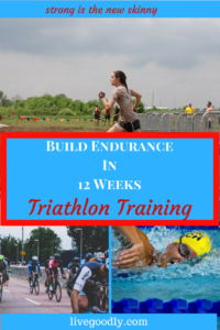 Build endurance in 12 weeks. Tips to start Triathlon Training for fitness